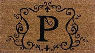 Evergreen 2RM016 Monogram Door Mat, Coir Insert, Letter P, 16-Inches x 28-Inches