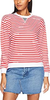 TOMMY HILFIGER Women's Stripe Repeat Logo Sweatshirt, STP