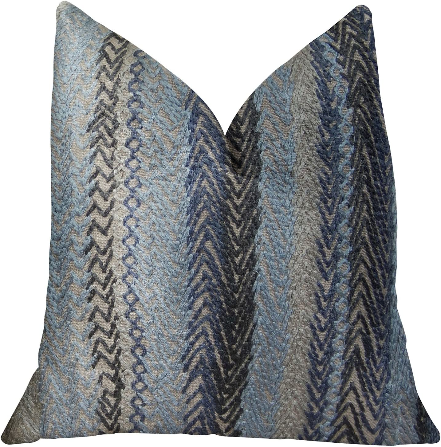 sold out Max 71% OFF Plutus Brands Zigzag Rows Throw Pillow Handmade Graphite
