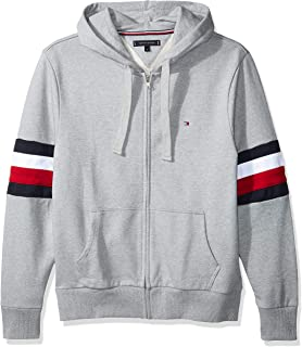 2eaa8e5f Tommy Hilfiger mens Relaxd Pieced Hooded Zip Through Sweatshirts