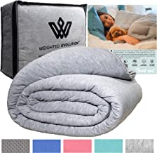 Weighted Evolution Weighted Blanket+ Bonus Organic Bamboo Duvet Cover |Pre-Assembled| Best Blanket for Adults/Kids-Hypoall...