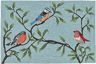 Liora Manne 2270/04 Aqua Ravella Bird on Branches Indoor/Outdoor Rug, 2' X 3', Blue