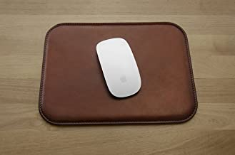 Leather Mouse Pad - Desktop Accessories - Made in Italy (Brown)