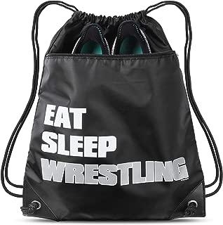 Eat Sleep Wrestling Gear Sack Drawstring Bag For Youth Girls Boys Kids 18