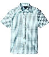 Oscar de la Renta Childrenswear - Check Cotton Short Sleeve Woven Shirt (Toddler/Little Kids/Big Kids)