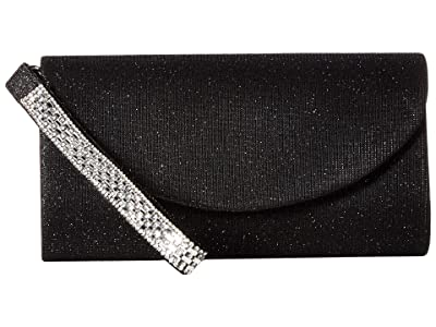 Jessica McClintock Vienna Clutch (Black) Clutch Handbags