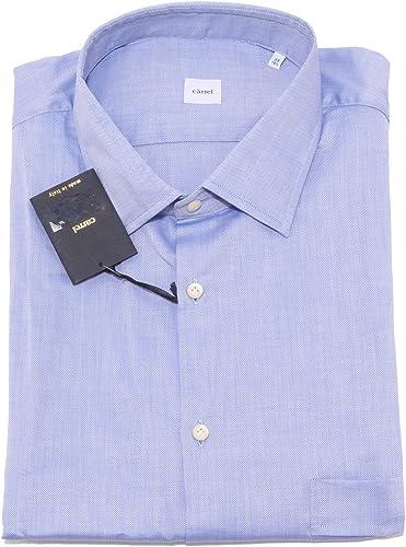 voiturerel 0049P Camicia hommes Azzurra Manica Corta Shirt Hommes Sleeveless