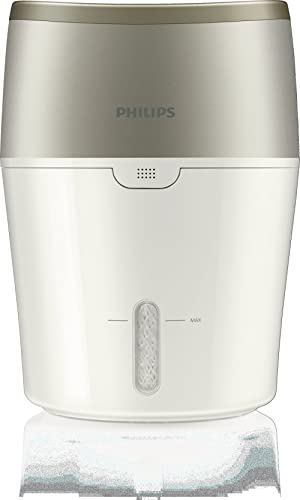 Philips Air Humidifier with NanoCloud Technology, Automatic Humidity Mode and Digital Sensor, White & Oyster Metallic...