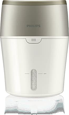 Philips Air Humidifier with NanoCloud Technology, Automatic Humidity Mode and Digital Sensor, White & Oyster Metallic, HU4803/70
