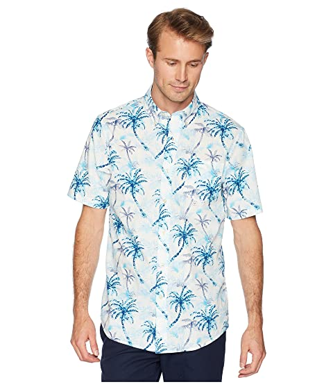 Printed CHAPS Woven Sleeve Shirt Short p1W1OqExwH
