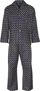 New Mens Wyncette Brushed Cotton Pyjama Set Nightwear Lounge wear S M L XL XXL 3XL