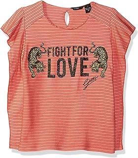 52e558751e GUESS Big Girls' Ruffle Sleeve Fight for Love T-Shirt