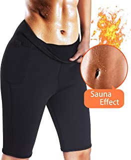Best Women Weight Loss Pants Neoprene Exercise Leggings Sauna Suit Body Shaper Hot Sweat Thermo Slimming Capri Workout