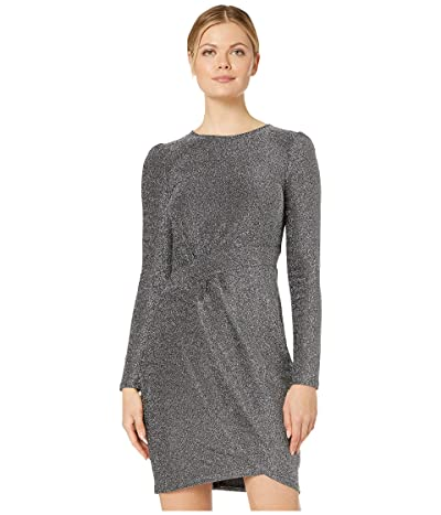 MICHAEL Michael Kors Lurex Wrap Skirt Dress (Black/Silver) Women