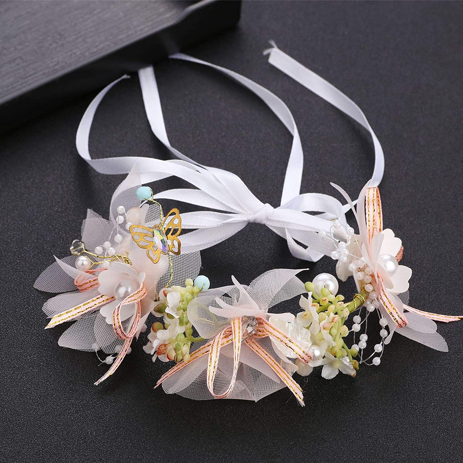 New popularity YIXING Fashion Pearl Special price Headband Bridal Wedding Sweet Flower Crown