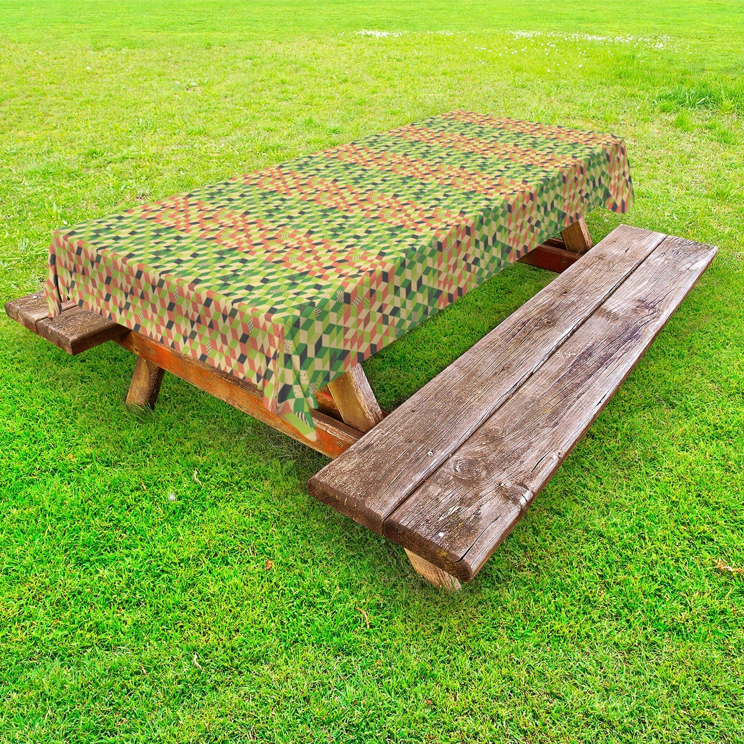 Ambesonne Mosaic Outdoor Special sale item Tablecloth Modern Selling and selling Colorful Cu Creative