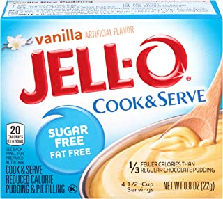 Jell-O Cook & Serve Pudding & Pie Filling, Sugar Free, Vanilla, 0.8 oz (Pack of 24)