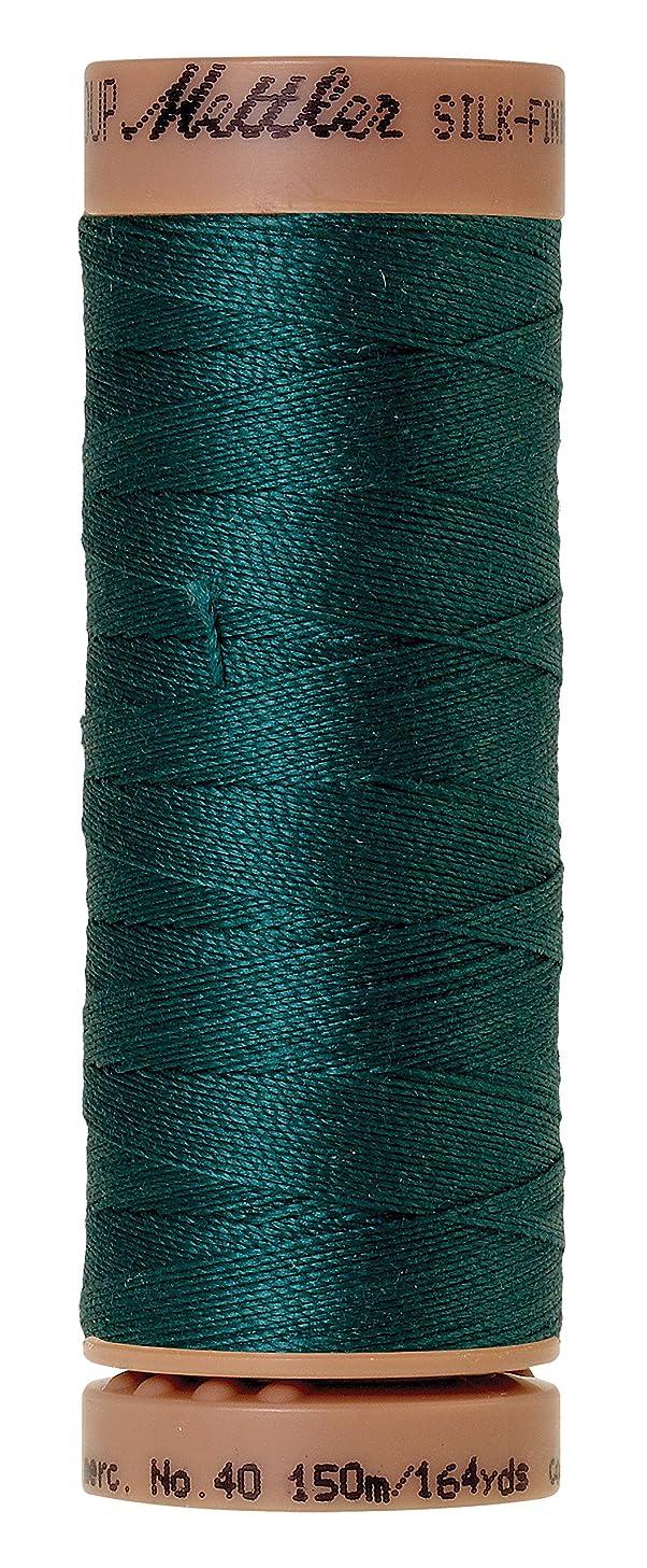 Mettler Silk-Finish 40 Weight Solid Cotton Thread, 164 yd/150m, Spruce