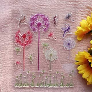 XUEKANG Colorful Dandelion Elves Clear Stamps for Card Making and DIY Scrapbooking Transparent Stamps Silicone Stamps Phot...