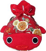 ✨ BARbee ✨ Japanese Chirimen & Kimono Print Goldfish Drawstring Pouch Coin Purse Cosmetic Jewelry Key Bag