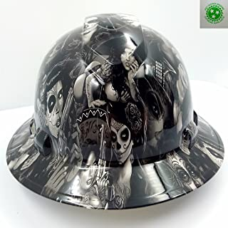 Wet Works Imaging Customized Pyramex Full BRIM TATTOO BABES HARD HAT With Ratcheting Suspension