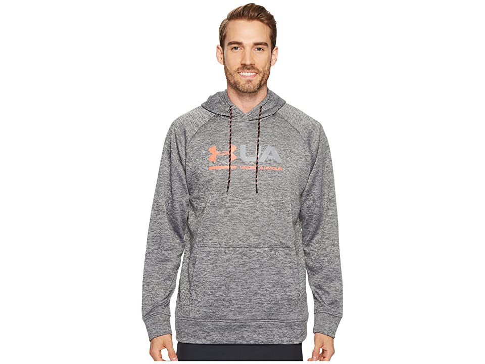 Under Armour Armour(r) Fleece Tonal Twist Graphic Pullover Hoodie (Graphite/Marathon Red) Men