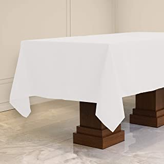Kadut Rectangle Tablecloth (60 x 102 Inch) White Rectangular Table Cloth for 6 Foot Table | Heavy Duty Fabric | Stain Proo...