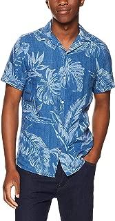 TOMMY HILFIGER Men's Leaf Print Linen Shirt