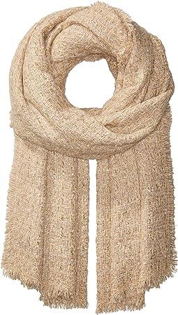 Lurex Tweed Wrap Scarf