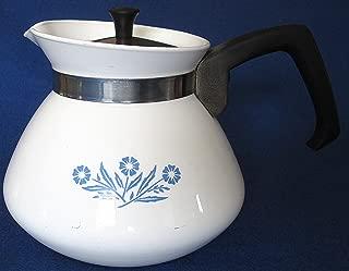 Corning Ware Blue Cornflower 6 Cup Tea Pot with Chrome Lid