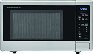 SHARP Stainless Steel Carousel 1.8 Cu. Ft. 1100W Countertop Microwave Oven (ISTA 6 Packaging), Cubic Foot, 1100 Watts