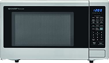SHARP ZSMC1842CS Stainless Steel Carousel 1.8 Cu. Ft. 1100W Countertop Microwave Oven (ISTA 6 Packaging), Cubic Foot, 1100 Watts
