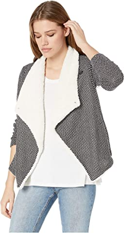 Scratch That Crosshatch Knit Jacket with Sherpa Collar