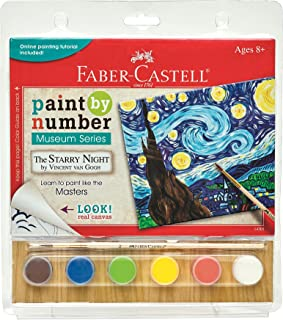 Faber Castell Paint by# Museum Series - Vincent Van Gogh, The Starry Night - Paint by Numbers for Adult Beginners & Young Artists