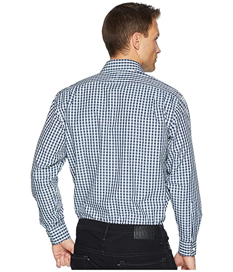 Magna Ready Long Sleeve Magnetically-Infused Dress Shirt- Spread Collar Dark Navy/Green/White Clearance Countdown Package 2018 Cheap Price Low Price Fee Shipping For Sale h5BLEe
