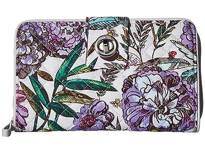 Vera Bradley Iconic RFID Turnlock Wallet (Lavender Meadow) Wallet Handbags