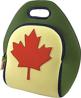 Dabbawalla Bags O'Canada Maple Leaf Kids' & Adults' Insulated Washable & Eco-Friendly Lunch Bag Tote Green/Orange