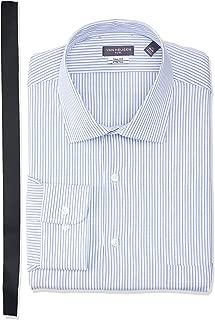 Men's Size Tall Fit Dress Shirts Flex Collar Stretch Stripe