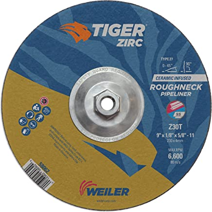 1//8 In Thick Oxide Sg Pipeliner Cut-Off Wheel 7 In Dia 24 Grit Alum