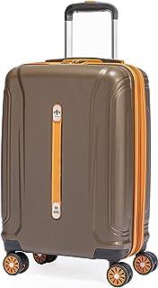 Luxueux Cognac Cuir cabine valise Unique 2 Roues Bagages à Main Trolley NEUF