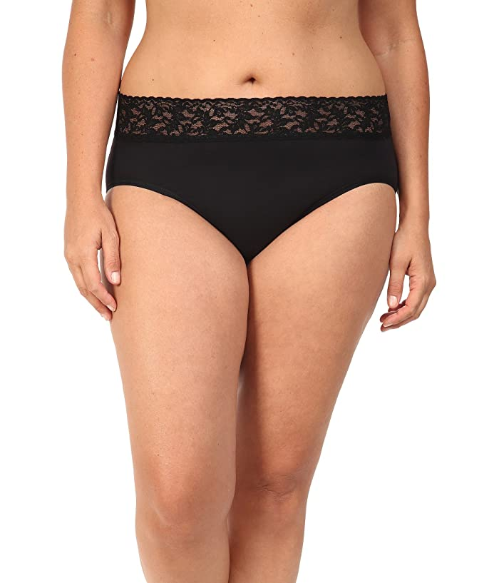 d09de1690783 Hanky Panky Plus Size Organic Cotton Signature Lace French Brief at ...