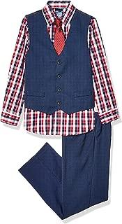 Boys' 4-Piece Vest Set with Dress Shirt, Tie, Vest, and Pants