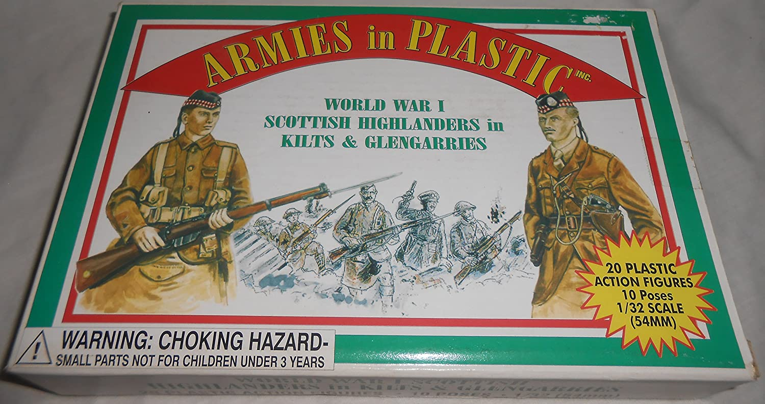 Scottish Highlanders in Kilts (20) 1 32 Armies in Plastic