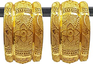 Ethnic Bollywood Gold Plated Traditional Indian Bracelets Bangles Jewellery for Women and Girls