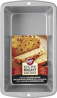 Wilton 2105-951 070896590510 Recipe Right Large Loaf Pan, STANDARD, Steel