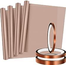 4 Pieces PTFE Sheet Heat Press Transfer Sheet Heat Resistant Craft Mat and 3 Rolls Heat Resistant Tape Heat Press Tape