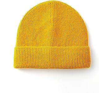 ZXDY قبعة الشتاء صياد السمك قبعة للرجال النساء الصوف الكفة متماسكة القبعات لفة حافة الجمجمة كاب للجنسين