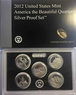 2012 S US SILVER Proof Set National Parks Quarters Comes in US Mint Packaging Proof