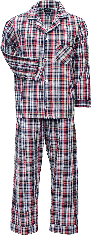 Foxfire Sleepwear Solid and Plaid Long Sleeve Long Leg Set