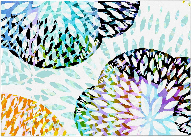 KESS InHouse JW1002ADM02 Jessica Wilde Tropical Flora Pastel Abstract Dog Place Mat, 24  x 15